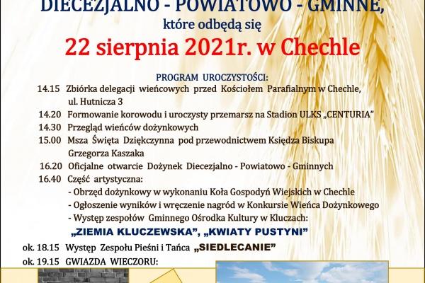 Plakat dożynki 2021
